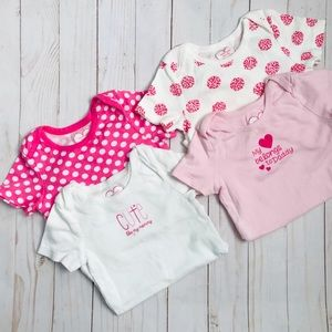 ChildrensPlace 4 Pack Pink Onepiece